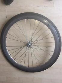 700c chrome front wheel