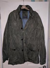 Large Tommy Hilfiger khaki military style coat