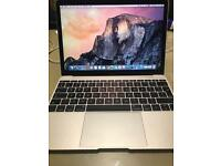 Macbook intel m3 8gb ram and 256gb flash HDD