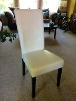 White dining chairs (2)