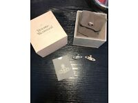 Vivienne Westwood silver earrings with box