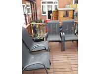 BLK NEXT GARDEN CHAIRS X 4 AS NEW COST 250