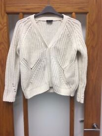 Topshop Cream Wool Ladies Cardigan - Size 8 - Great condition, hardly worn - Perfect for Winter
