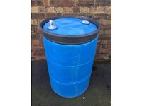 Blue Water Butt 205 litres 45 Gallon Drum