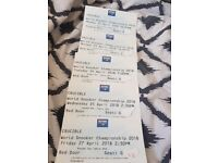 World Snooker Championship Tickets (Various Rounds Available) Collection Pickup Only