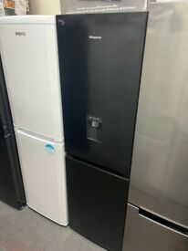 BLACK HISENSE DRINKS FRIDGE FREEZER GRADED NOT USED