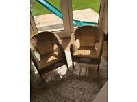 Children's wicker chairs