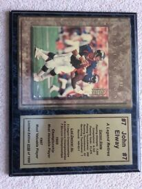 John Elway Limited Edition American Football Plaque