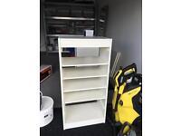 Ikea white trofast storage frame and shelves