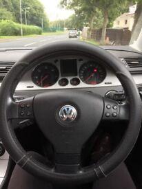VW Passat blue 58 plate