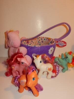 My Little Pony Plush Easter basket with tag & Hasbro pony - My Little Pony Easter Basket