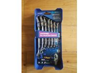 Kincrome Flex head Gear Spanner Set 7 Piece 8-19mm Metric - RRP £89.99