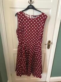 Plus sized polka dot dress Lady Vintage