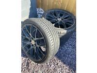Stuttgart 19 inch alloy wheels with 3 brand new tyres