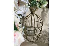 Brand New Gold Bird Cage Candleholder Tea Light Metal Decor Garden wedding