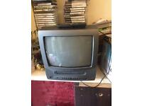 Portable Colour TV with VHS recorder