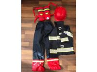 Child's fireman dressing up costume aged 6-8 years