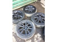 Genuine Vauxhall Vectra C set of 4 alloy wheels and tyres