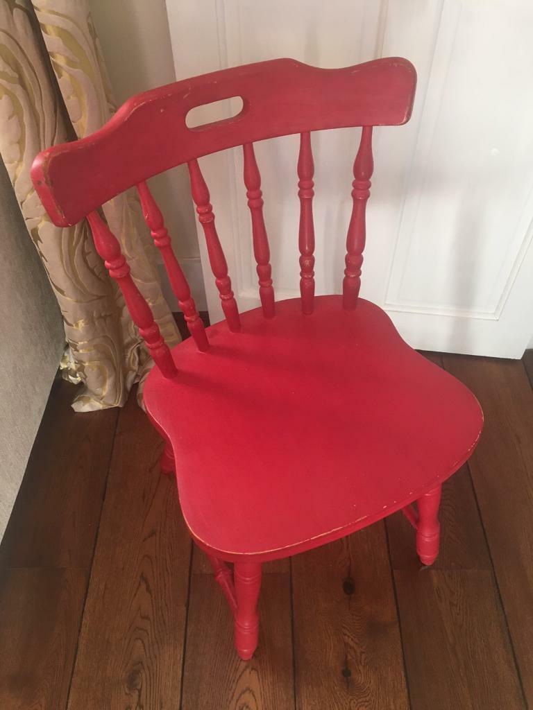 Brilliant Shabby Chic Red Dining Chair In Windsor Berkshire Gumtree Download Free Architecture Designs Lukepmadebymaigaardcom