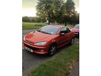 Peugeot 206cc 1.6 petrol 51reg For Sale