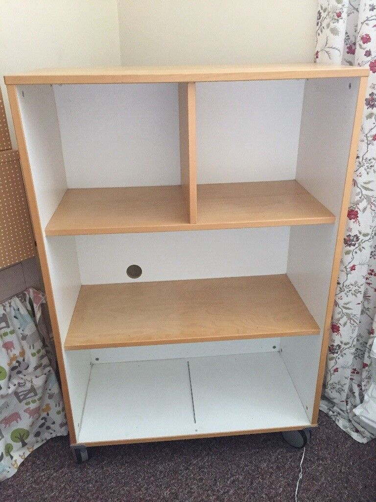 Great Ikea shelving unit on wheels