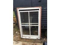 Two Victorian sash windows
