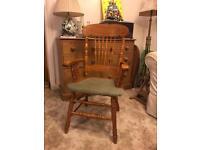 Charming & Elegant Solid Pine Farmhouse High Back Chair