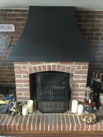 Fire Grate and Chimney Hood