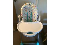 Mothercare highchair - adjustable and reclines, lovely condition