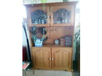 Lovely handmade solid wood honey pine cabinet/ dresser/ sideboard