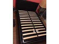 Double Bed Black - Nearly New with Storage underneath