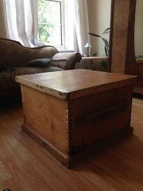 Vintage Salt Box/Coffee Table