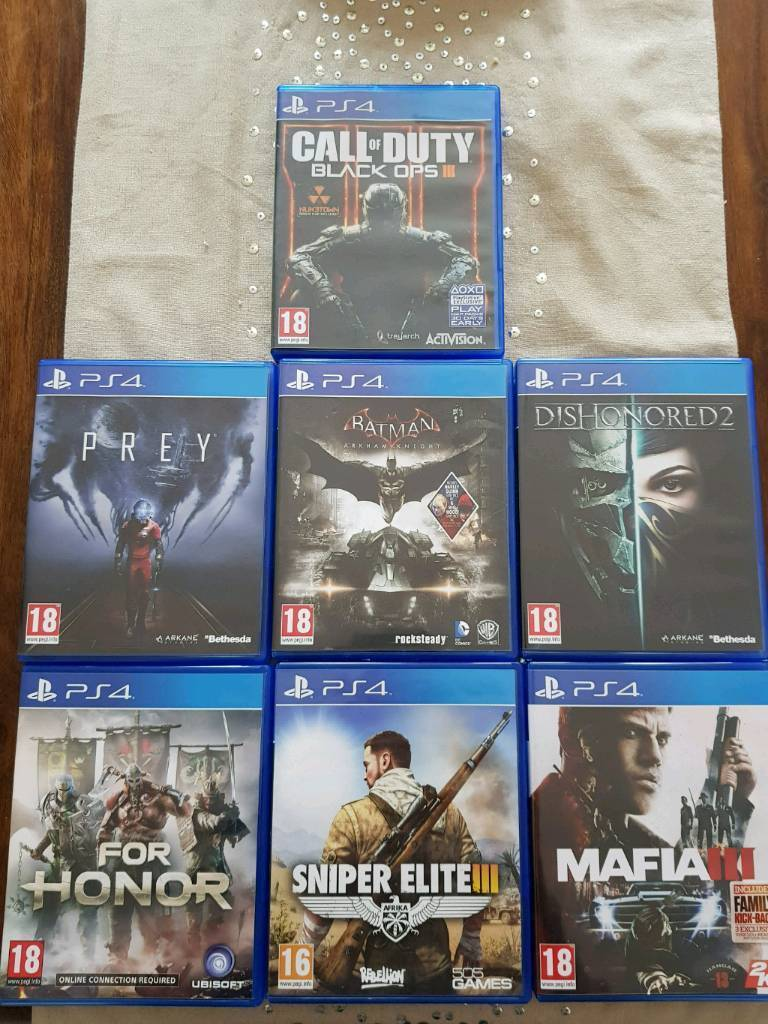 PS4 games for sale or swap, prey, dishonored 2, etc