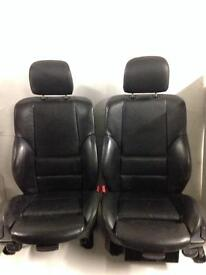 BMW E46 330 Saloon Black Leather Front, rear Seats With Door Cards