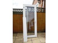 WHITE UPVC DOUBLE GLAZED REAR/CONSERVATORY DOOR