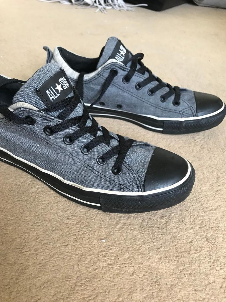 Grey black converse size 8 men ladies  8c5620c0f
