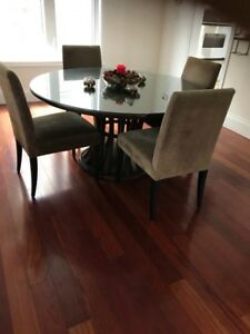 Crate and Barrel dining room table & chairs
