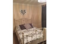 Ivory iron double bed