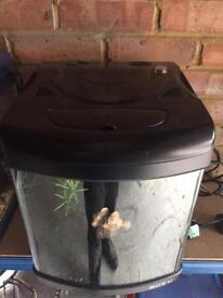 BOYU 30L Aquarium Fish Tank with inbuilt filter heater light