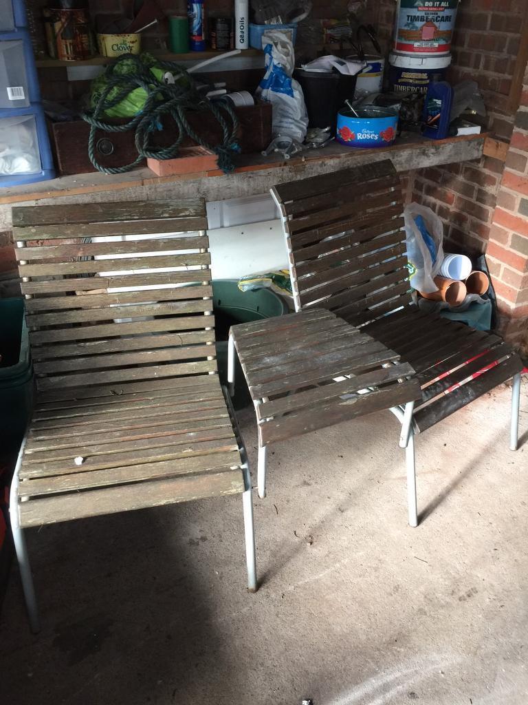 garden seats with table - Garden Furniture Kidderminster
