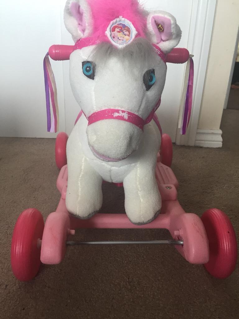 Disney Princess White Pony Ride on toy