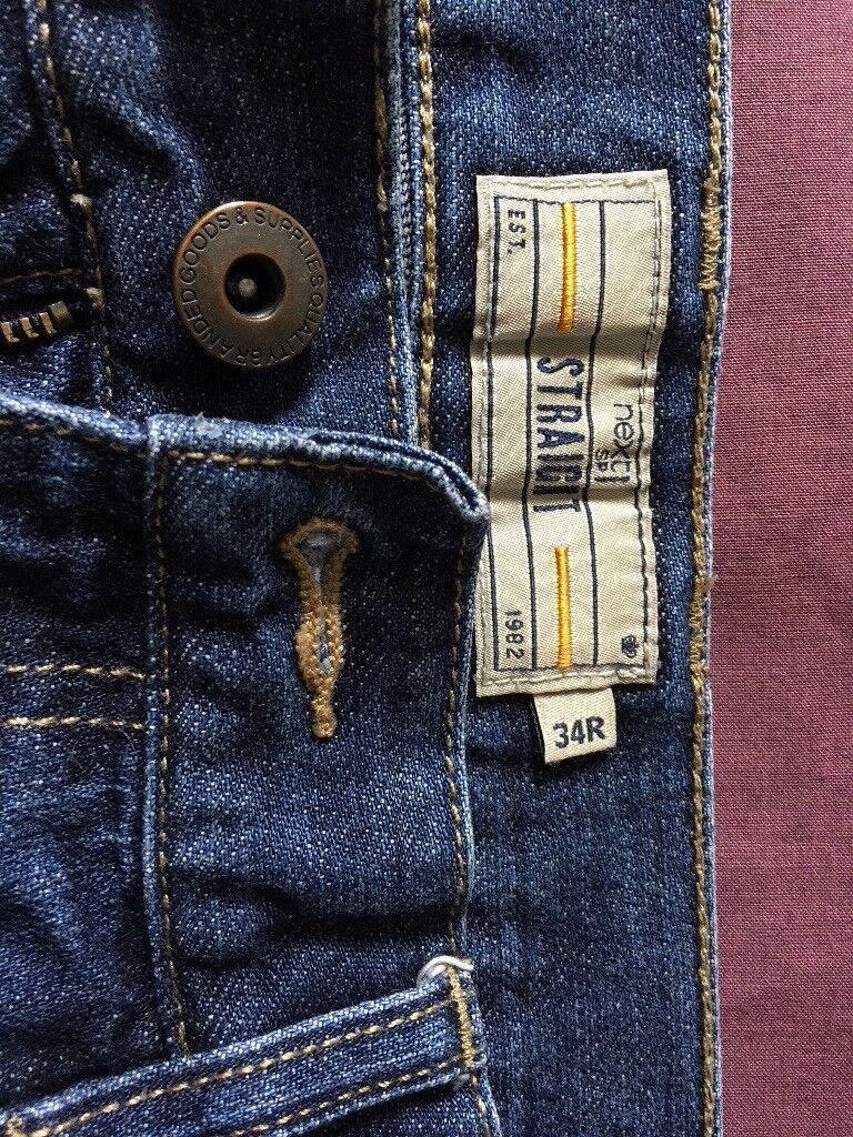 Next straight mens jeans 34R
