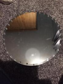 12 large mirrored plates