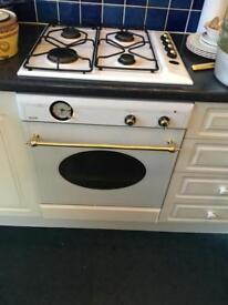 Electric oven hob and extractor