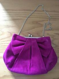Dune pink suede handbag