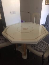 Beautiful extended table with 3 chairs £160 ONO