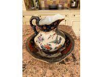 Chinese bowl and jug set