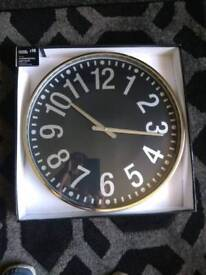 Chrome Oversized wall clock *NEW BOXED *