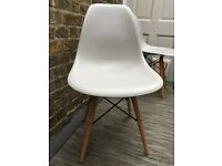 Two Replica Eames Eiffel Chairs in Light Grey