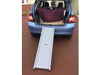 Plastic fold up dog car ramp for dogs 20 kg or under
